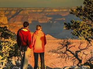 Couple enjoying the view in Grand Canyon