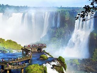 Iguazu Falls spectators