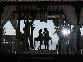 Balinese wedding sunset