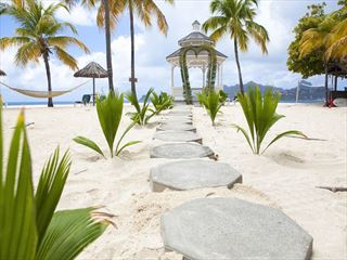 Palm Island wedding gazebo