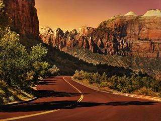 Drive into stunning Zion National Park