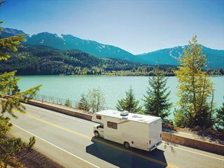 Driving an RV through Whistler