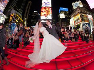 Times Square wedding at night