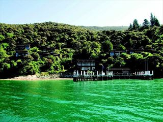 View from the waters of Bay of Many Coves