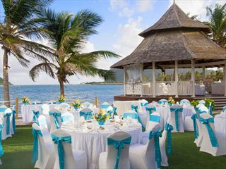 Wedding gazebo setting