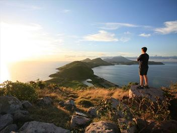 Exploring the island of St Kitts on foot