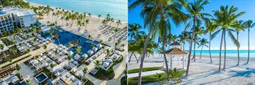 Aerial view and beach at Hyatt Zilara Cap Cana