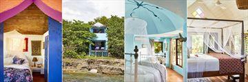 Jake's, Ocean View Room, Deluxe Ocean View Room Exterior, Deluxe Ocean View Room Interior and Deluxe Garden View Room