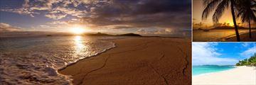 The beach at Palm Island Resort & Spa
