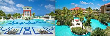 The pools at Sandals Grande St Lucian