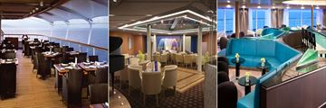Restaurants and lounges on board the Seabourn
