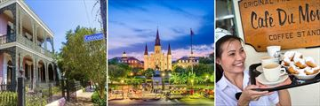 New Orleans Garden District, St. Louis Cathedral & Beignets at Cafe Du Monde