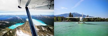 A birdseye view of Garibaldi Lake and landing on Green Lake Whistler