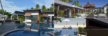 Aava Resort & Spa, Poolside Villas, Deluxe Bungalows Walkway and Pool and Beach