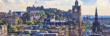 A panoramic view of Edinburgh