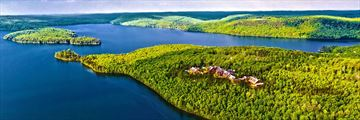 Aerial view of Lake Sacacomie, Quebec