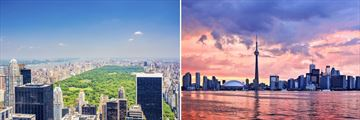 Central Park, New York City & Toronto skyline