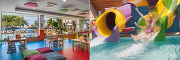 Kids club and waterslides at Amathus Beach Hotel