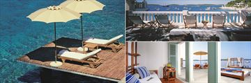 Lounging areas at Amfora Hvar Grand Beach Resort