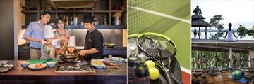 Anantara Golden Triangle Resort, Spice Spoons Cooking Class, Tennis, Yoga and Fitness Centre