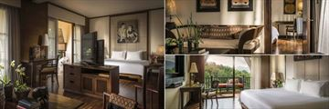 Anantara Golden Triangle Resort, (clockwise from left): Three Country View Suite, Three Country View Family Suite and Deluxe Three Country View Room