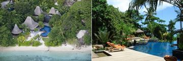 Anantara Maia Seychelles Villas, Aerial View of Resort and Pool