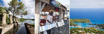 Antigua, Nelson's Dockyard, Steel Pan band at Shirly Heights, English Harbours