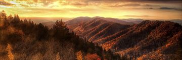 Autumn hillsides in the Great Smoky Mountains, Tennessee