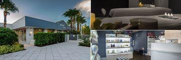 B Resort & Spa Lake Buena Vista, B Indulged Spa Exterior, Treatment Room and Spa Lobby
