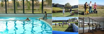Balgownie Estate Vineyard Resort & Spa, (clockwise from left): Pool, Tennis, Segway, Gym and Giant Foosball