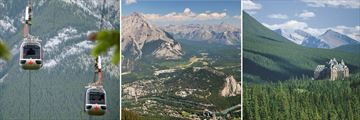 Sulphur Mountain Gondolas, Aerial View of Banff & Fairmont Banff Springs