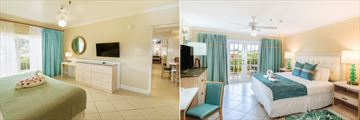 One Bedroom Suite Pool View and Deluxe Garden View Room at Bay Gardens Beach Resort