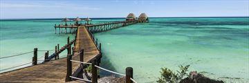 Ocean jetty in Zanzibar