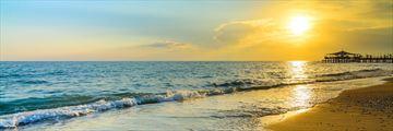 Belek beach at sunset