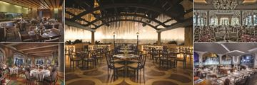Bellagio, (clockwise from top left): Harvest Restaurant, Prime Steakhouse Patio, Jasmine Restaurant, Lago Restaurant and Picasso Restaurant