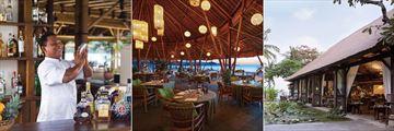 Belmond Jimbaran Puri, Puri Bar, Nelayan Restaurant and Tunjung Restaurant