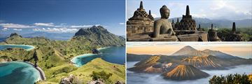 Komodo National Park, Borobudur and Mount Bromo