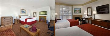 Best Western Sonoma Valley Inn, Fireplace King Room and Fireplace Double Queen with Private Patio or Balcony