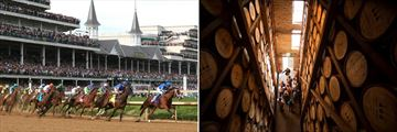 Churchill Downs (left) and Bourbon Rickhouse (right)
