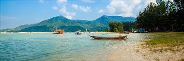 Boats docked at Koh Phangan