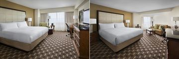 Concierge Level King and Larger Guest Room King at Boston Marriott Quincy
