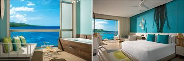Breathless Montego Bay, Allure Junior Suite Ocean View Balcony and Bedroom