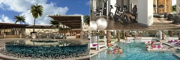 Breathless Riviera Cancun Resort & Spa, Lobby Exterior, Fitness Centre and Energy Pool - The Bar