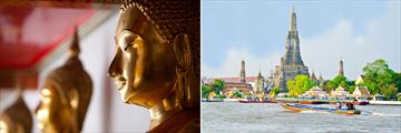Buddha statues at Wat Pho, and a cruise along Chao Phraya River