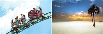 Busch Gardens rollercoaster & St Petes beachfront