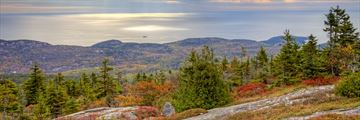 View of Cadillac Mountain, Maine - a popular motorhome holiday stop-off