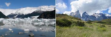 Calafate Lake, Argentina & Torres Del Paine, Chile