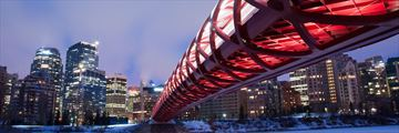 The Skyline Peace Bridge in Calgary