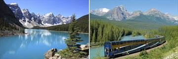 Moraine Lake & The Rocky Mountaineer