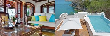 One Bedroom Oceanview Villa Suite with Pool at Cap Maison